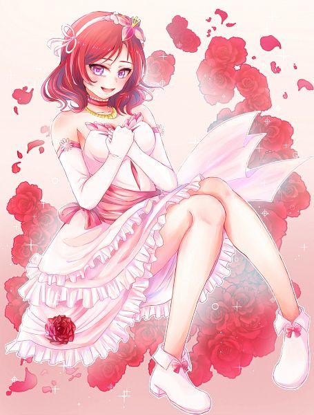Tags: Anime, Pixiv Id 578907, Love Live!, Nishikino Maki, PNG Conversion, Bokutachi wa Hitotsu no Hikari, Maki Nishikino
