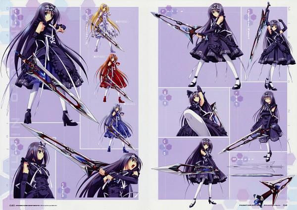 Tags: Anime, Suzuhira Hiro, Phantom Breaker Official Visual Works, Phantom Breaker, Nishina Mikoto, Broadsword, Official Art