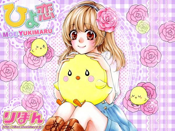 Tags: Anime, Yukimaru Moe, Hiyokoi, Nishiyama Hiyori, Official Art, Wallpaper, Official Wallpaper, PNG Conversion