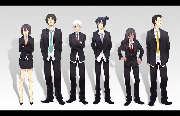 Tags: Anime, Tian Daoling, No.6, Rikiga (No.6), Inukashi, Safu, Shion (No.6), Nezumi (No.6), Koukaku Kidoutai GHOST IN THE SHELL (Parody), Pixiv, Fanart, Fanart From Pixiv