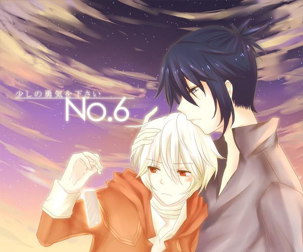 Tags: Anime, No.6, Shion (No.6), Nezumi (No.6), Caressing, deviantART, NezuShi