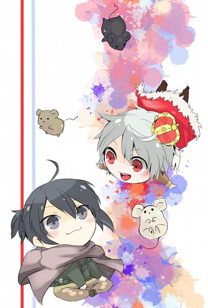 Tags: Anime, Pixiv Id 2325227, No.6, Shion (No.6), Nezumi (No.6), King, Mobile Wallpaper, Pixiv