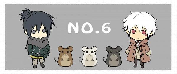 Tags: Anime, Aprico (Pixiv4439435), No.6, Hamlet (No.6), Shion (No.6), Tsukiyo (No.6), Nezumi (No.6), Cravat (No.6), Pixiv, Fanart, Facebook Cover
