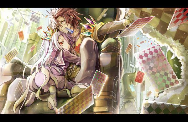 Tags: Anime, Shino (Eefy), No Game No Life, Sora (No Game No Life), Shiro (No Game No Life)