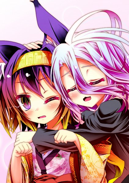Tags: Anime, Pixiv Id 3758336, No Game No Life, Hatsuse Izuna, Shiro (No Game No Life), Mobile Wallpaper, Fanart From Pixiv, Pixiv, Fanart