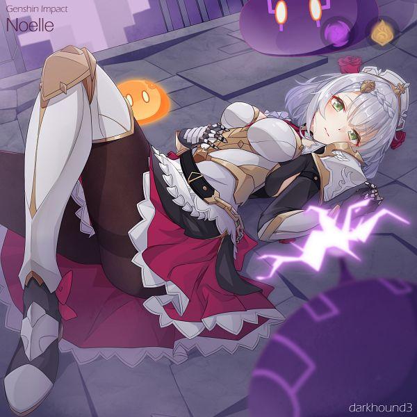 Tags: Anime, Pixiv Id 6631888, Genshin Impact, Noelle (Genshin Impact), Slime