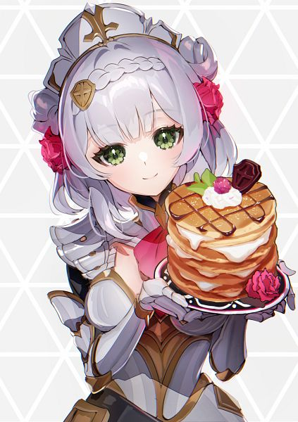 Tags: Anime, Galibo, Genshin Impact, Noelle (Genshin Impact), Berry, Pancakes, Pixiv, Fanart From Pixiv, Fanart
