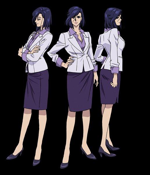 Tags: Anime, Takahashi Kumiko, Sunrise (Studio), City Hunter, City Hunter: Shinjuku Private Eyes, Nogami Saeko, Office Lady Outfit, Character Sheet, Official Art