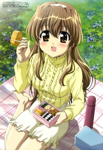 Tags: Anime, Ishikawa Masakazu, Diomedéa, Nogizaka Haruka no Himitsu, Megami #114 2009-11, Nogizaka Haruka, Picnic, Thermos, Official Art