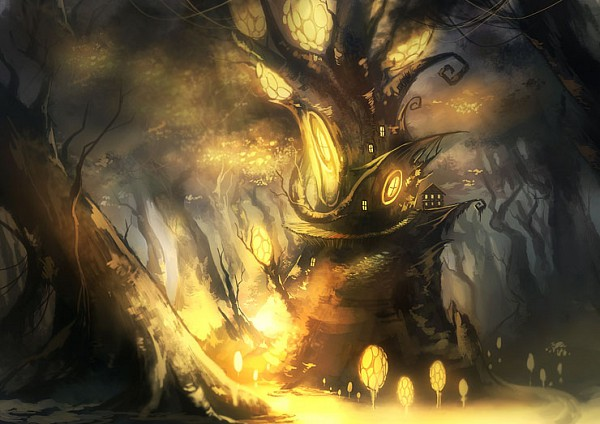 Tags: Anime, Noki (affabile), Treehouse, Pixiv, Original