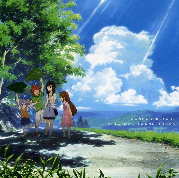 Tags: Anime, Silver Link, Non Non Biyori, Koshigaya Komari, Koshigaya Natsumi, Ichijou Hotaru, Miyauchi Renge, Official Art, Scan