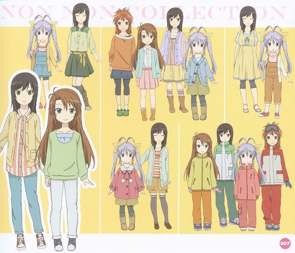 Tags: Anime, Silver Link, Non Non Biyori, Ichijou Hotaru, Miyauchi Renge, Koshigaya Komari, Koshigaya Natsumi, Scan, Official Art, Character Sheet