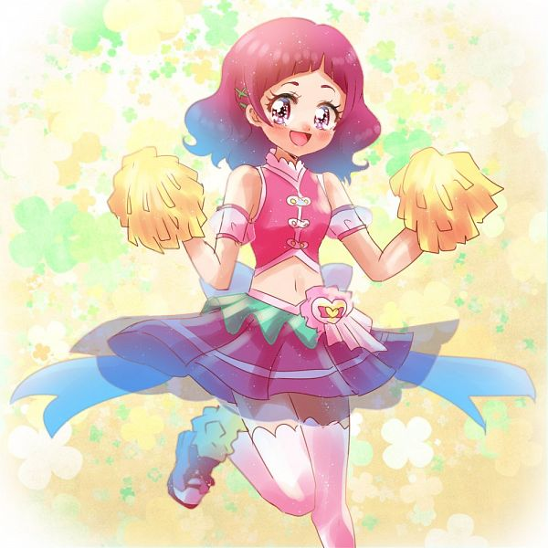 Tags: Anime, Pixiv Id 1706251, HUGtto! Precure, Nono Hana, Cure Yell (Cosplay), Four-leaf Clover, Clover (Plant), Fanart From Pixiv, Pixiv, Twitter, Fanart