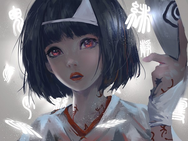 Tags: Anime, wlop, Noragami, Nora (Noragami), Holding Mask, Fanart, Fanart From DeviantART, deviantART, Wallpaper