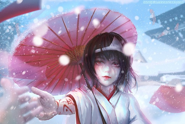 Tags: Anime, Sangrde, Noragami, Nora (Noragami), Japanese Building, Japanese Architecture, Lip Gloss, deviantART, Pixiv, Fanart From DeviantART, Fanart, Fanart From Pixiv