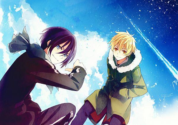 Tags: Anime, Takeru (Pixiv1766672), Noragami, Yukine (Noragami), Yato (Noragami), Pixiv, Fanart, Fanart From Pixiv