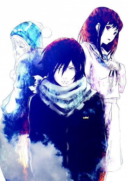Tags: Anime, Poker-face-008, Noragami, Iki Hiyori, Yukine (Noragami), Yato (Noragami), Mobile Wallpaper