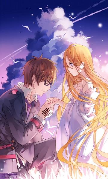 Tags: Anime, INstockee, Noragami, Kazuma (Noragami), Bishamonten (Noragami), deviantART, Fanart From DeviantART, Fanart, PNG Conversion, Mobile Wallpaper