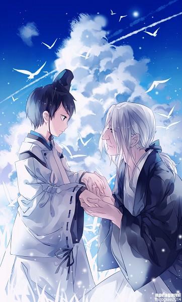Tags: Anime, INstockee, Noragami, Ebisu (Noragami), Tenjin (Noragami), Fanart From Pixiv, Pixiv, Mobile Wallpaper, PNG Conversion, Fanart, Fanart From DeviantART, deviantART