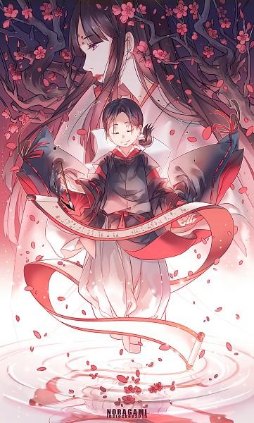 Tags: Anime, INstockee, Noragami, Tenjin (Noragami), Tsuyu (Noragami), Water Reflection, Ink, Fanart From DeviantART, PNG Conversion, deviantART, Mobile Wallpaper, Fanart