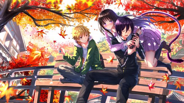 Tags: Anime, Swordsouls, Noragami, Iki Hiyori, Yukine (Noragami), Yato (Noragami), Facebook Cover, Wallpaper, HD Wallpaper, PNG Conversion