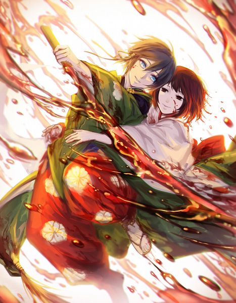 Tags: Anime, avodkabottle, Noragami, Nora (Noragami), Yato (Noragami), Red Pants, deviantART, Fanart From DeviantART, Fanart, PNG Conversion