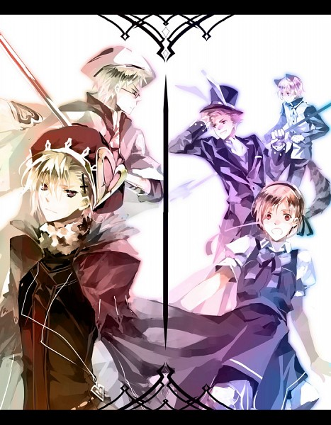 Tags: Anime, 10721 (artist), Axis Powers: Hetalia, Alice in Wonderland, Finland, Sweden, Iceland, Denmark, Norway, Knight, White Rabbit (Cosplay), Alice (Alice in Wonderland) (Cosplay), Cheshire Cat (Cosplay)