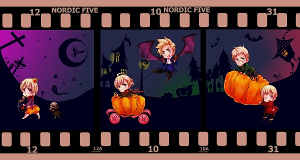 Tags: Anime, Pixiv Id 4022933, Axis Powers: Hetalia, Finland, Sweden, Iceland, Denmark, Norway, Mr. Puffin, Puffin, Facebook Cover, Fanart, Fanart From Pixiv