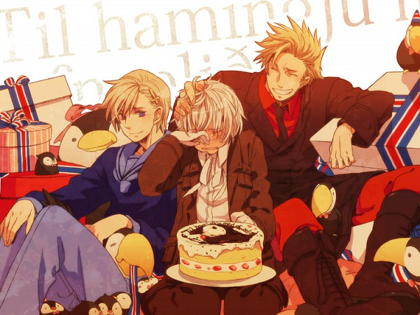 Tags: Anime, Himaki, Axis Powers: Hetalia, Norway, Denmark, Iceland, Mr. Puffin, Puffin, Flag Print, Nordic Countries