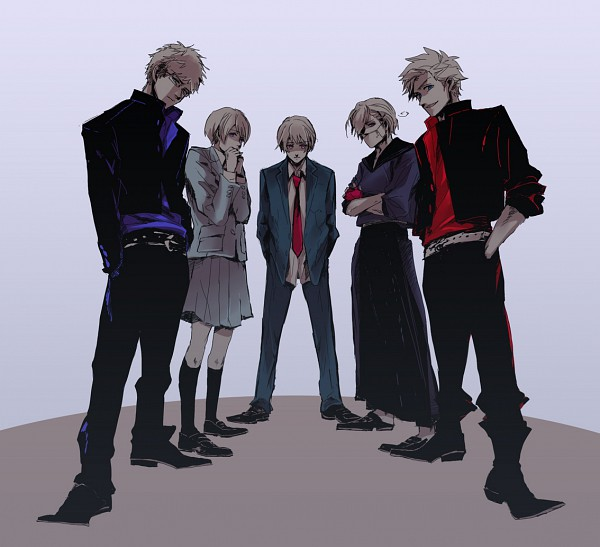 Tags: Anime, Pixiv Id 216774, Axis Powers: Hetalia, Finland, Sweden, Denmark, Iceland, Norway, Yankee, Medical Mask, Nordic Countries