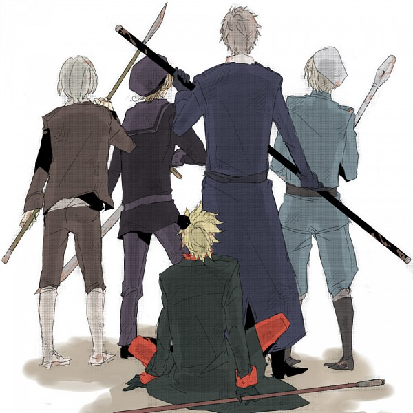 Tags: Anime, Pixiv Id 871504, Axis Powers: Hetalia, Norway, Finland, Sweden, Denmark, Iceland, Protecting, Nordic Countries