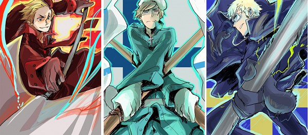 Tags: Anime, Annie (Pixiv176892), Axis Powers: Hetalia, Denmark, Finland, Sweden, Pixiv, Facebook Cover, Nordic Countries