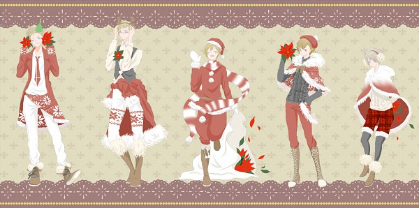 Tags: Anime, Pixiv Id 1527617, Axis Powers: Hetalia, Denmark, Norway, Finland, Sweden, Iceland, Facebook Cover, Pixiv, Nordic Countries