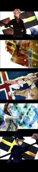 Tags: Anime, Pixiv Id 4317770, Axis Powers: Hetalia, Sweden, Denmark, Iceland, Norway, Finland, Flag Background, Nordic Countries