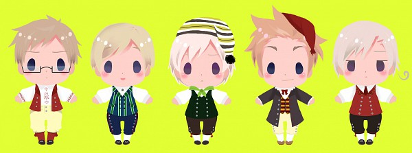 Tags: Anime, Fir3h34rt, Axis Powers: Hetalia, Finland, Sweden, Iceland, Denmark, Norway, Pixiv, Fanart, Facebook Cover, Nordic Countries