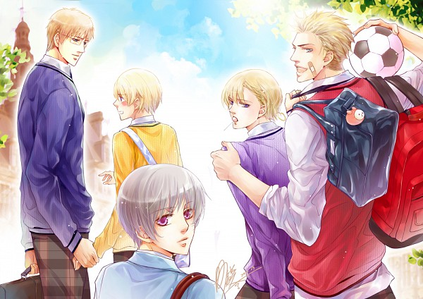 Tags: Anime, Kohyamada, Axis Powers: Hetalia, Finland, Sweden, Iceland, Denmark, Norway, Puffin, Pixiv, Nordic Countries