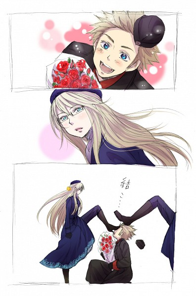 Tags: Anime, Ikko (Superb Pink), Axis Powers: Hetalia, Sweden (Female), Sweden, Denmark, Mobile Wallpaper, Pixiv, Comic, Nyotalia, Nordic Countries