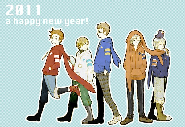 Tags: Anime, Pixiv Id 2517942, Axis Powers: Hetalia, Finland, Sweden, Iceland, Denmark, Norway, Pixiv, Nordic Countries