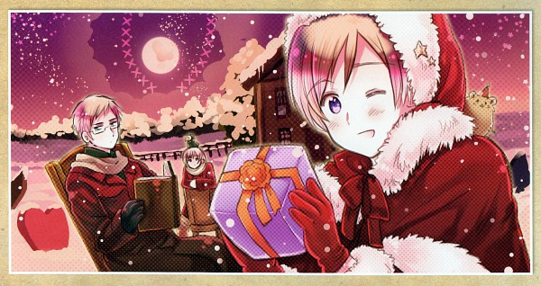 Tags: Anime, Himaruya Hidekaz, Studio DEEN, Axis Powers: Hetalia, ArteStella, Finland, Sweden, Iceland, Puffin, Facebook Cover, Scan, Wallpaper, Official Art