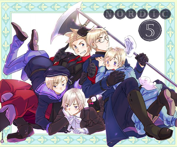 Tags: Anime, Axis Powers: Hetalia, Denmark, Iceland, Mr. Puffin, Norway, Finland, Hanatamago, Sweden, Puffin, Nordic Countries