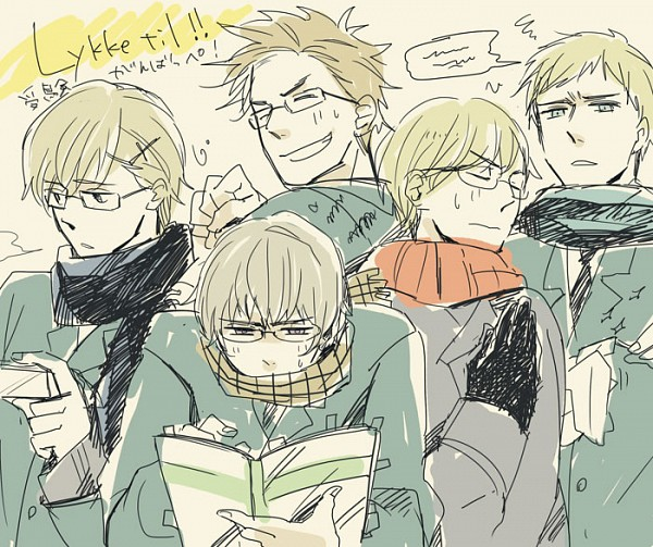 Tags: Anime, Neghy, Axis Powers: Hetalia, Finland, Sweden, Denmark, Iceland, Norway, Nordic Countries