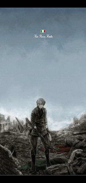 Tags: Anime, Higashi Yuuhi, Axis Powers: Hetalia, North Italy, War, Soldier, Mediterranean Countries
