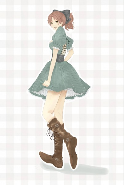 Tags: Anime, Pixiv Id 1035053, Axis Powers: Hetalia, North Italy, North Italy (Female), Plaid Background, Nyotalia, Fanart, Mobile Wallpaper, Pixiv, Mediterranean Countries