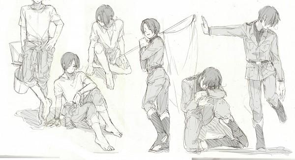 Tags: Anime, Mugomugo, Axis Powers: Hetalia, North Italy, Facebook Cover, Sketch, Mediterranean Countries, Axis Power Countries