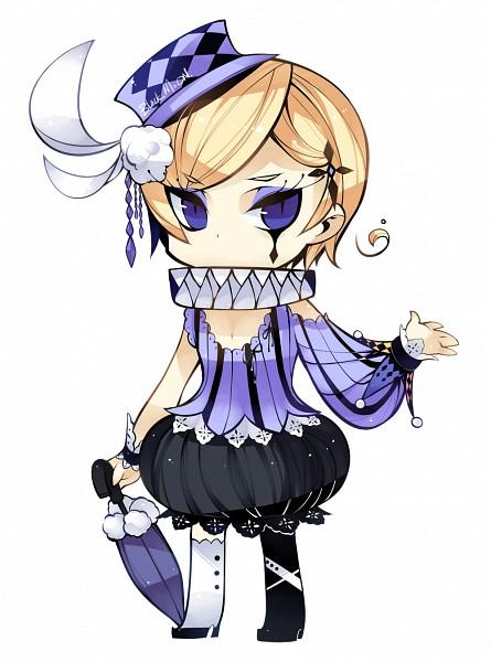 Tags: Anime, Kurogomu, Axis Powers: Hetalia, Norway, Ruff Collar, Closed Umbrella, Clown, Cross Clip, Facial Tattoo, Pixiv, Fanart, Nordic Countries