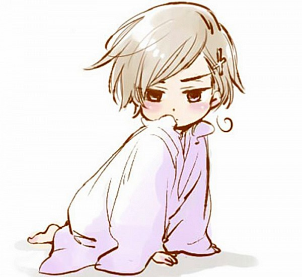 Tags: Anime, Axis Powers: Hetalia, Norway, Cross Clip, Observing, Glaring, Artist Request, Fanart