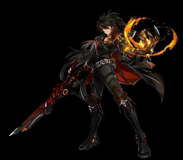 Tags: Anime, Elsword, Raven (Elsword), Nova Imperator (Raven), Official Art, Cover Image