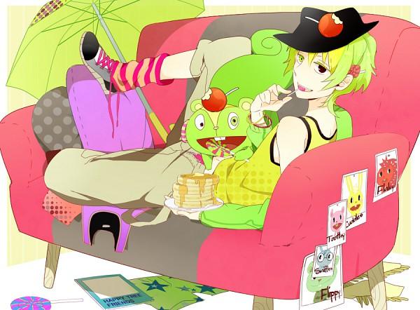 Tags: Anime, Al (Arupaka), Happy Tree Friends, Flaky, Cuddles (HTF), Flippy, Toothy (HTF), Sniffles (HTF), Nutty, Syrup, Candy Apple, Fedora, Waffles