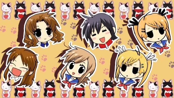 Tags: Anime, Nyan Koi!, Kirishima Akari, Nyamsus, Sumiyoshi Kanako, Tama (Nyan Koi), Ichinose Nagi, Mochizuki Chizuru, Mizuno Kaede, Kirishima Kotone, Wallpaper