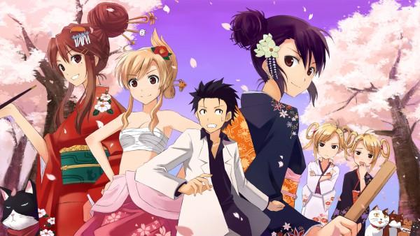 Tags: Anime, Nyan Koi!, Ichinose Nagi, Tama (Nyan Koi), Kousaka Junpei, Kirishima Kotone, Mizuno Kaede, Noir (Nyan Koi), Kirishima Akari, Josephine, Sumiyoshi Kanako, Nyamsus, HD Wallpaper